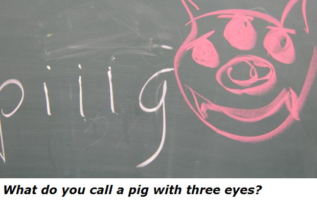 What Do You Call A Pig With Three Eyes Piiig